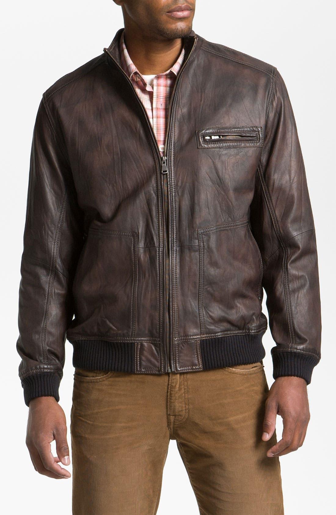 Alternate Image 1 Selected - Tommy Bahama 'Island Aviator' Leather Jacket
