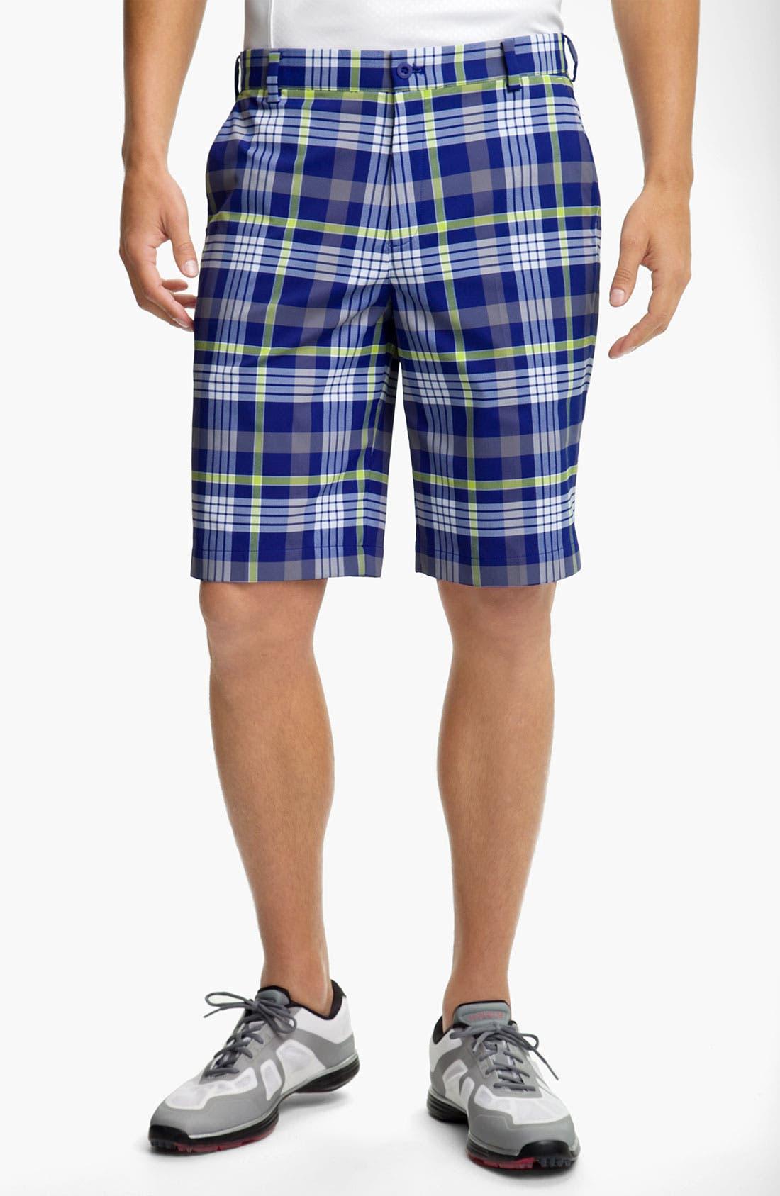 Alternate Image 1 Selected - Nike Golf Dri-FIT Plaid Shorts