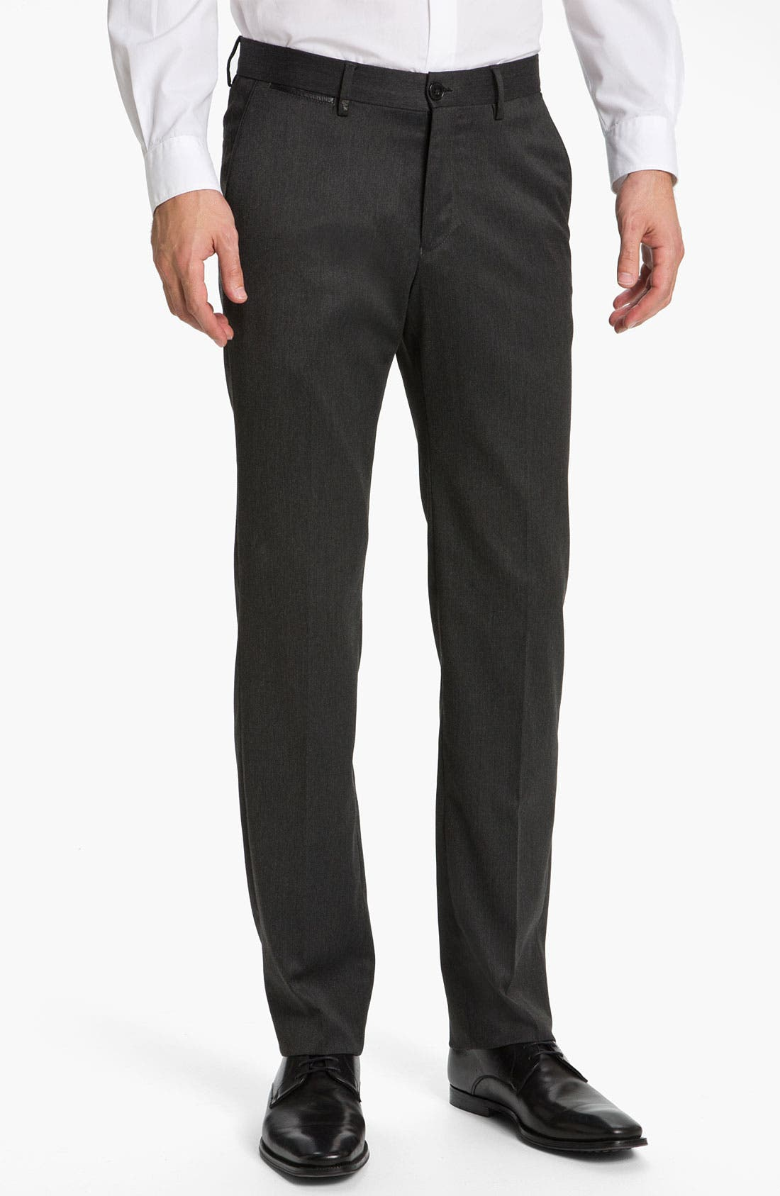 Alternate Image 1 Selected - Versace Flat Front Trousers (Online Only)