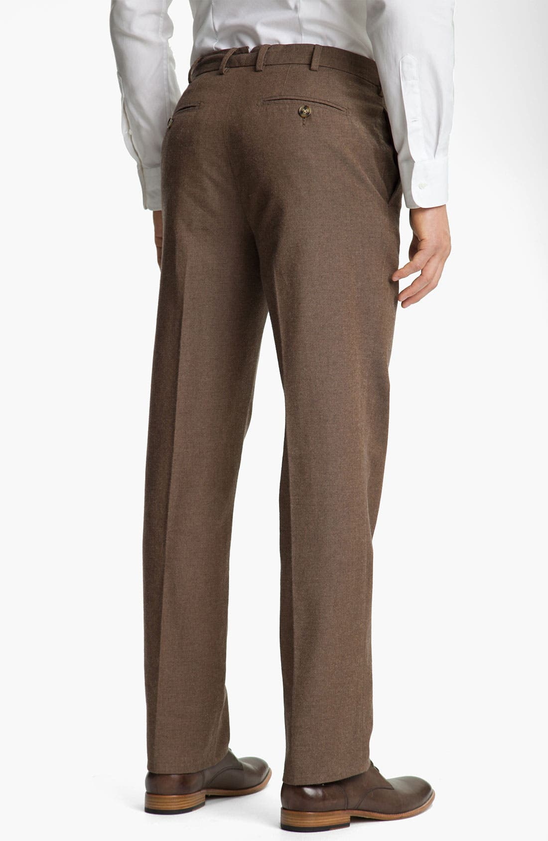 Alternate Image 2  - Peter Millar Flat Front Cotton Trousers