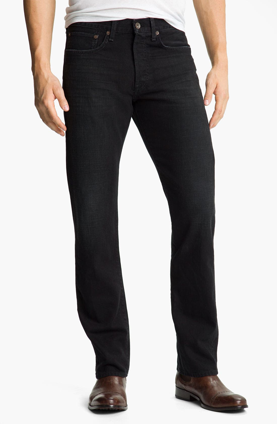 Main Image - Lucky Brand '121 Heritage' Slim Straight Leg Jeans (Ol' Subway)