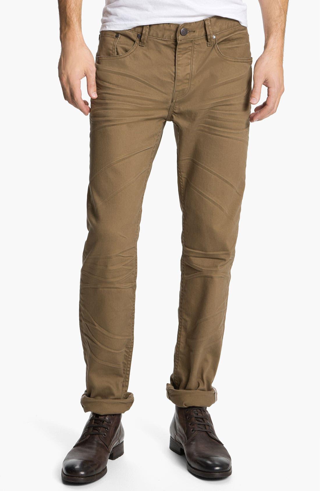Alternate Image 2  - Zanerobe 'Straight Mate' Slim Straight Leg Jeans (Tan)