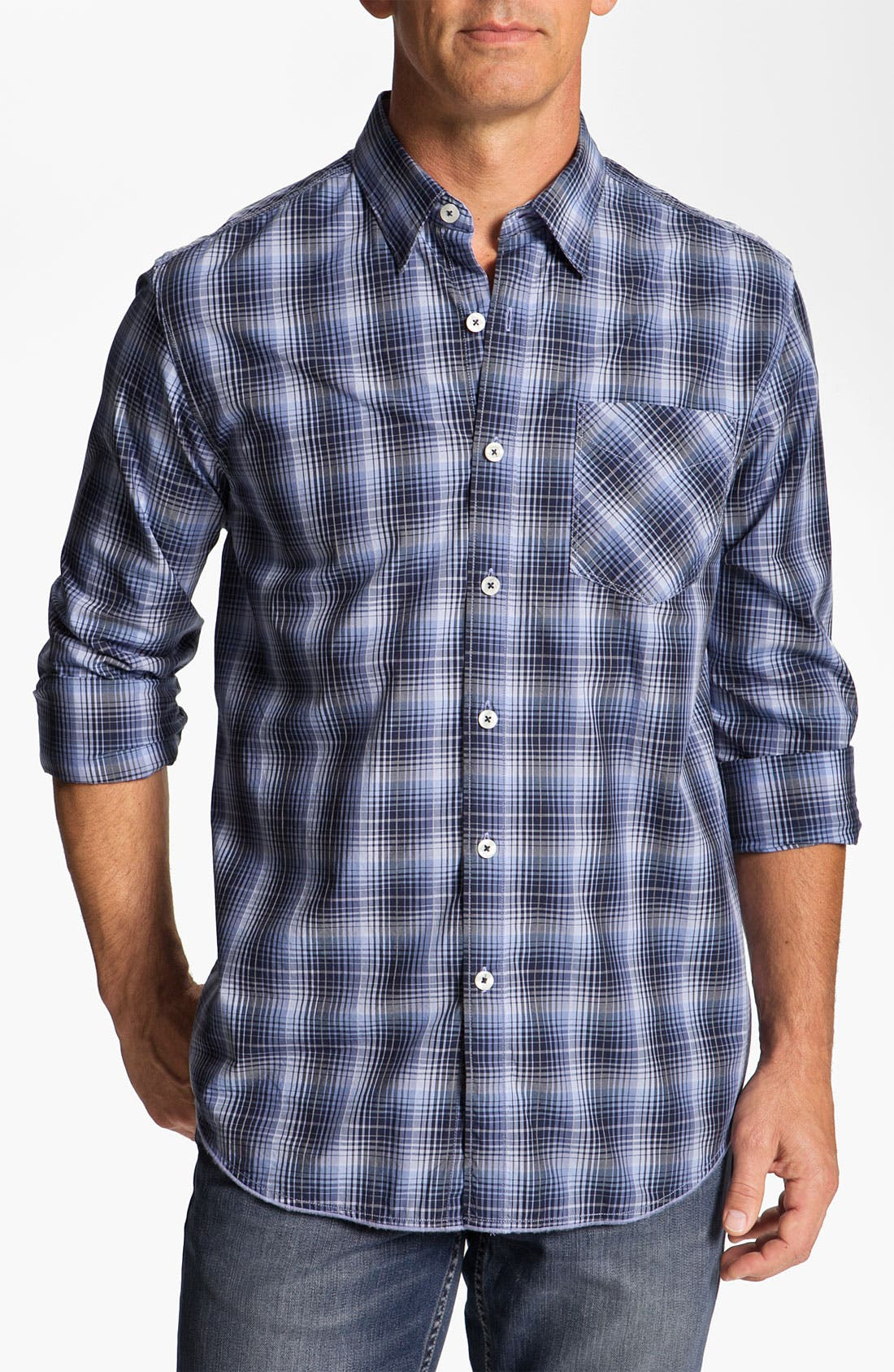 Alternate Image 1 Selected - Tommy Bahama Denim 'Phan-Tastic Plaid' Sport Shirt