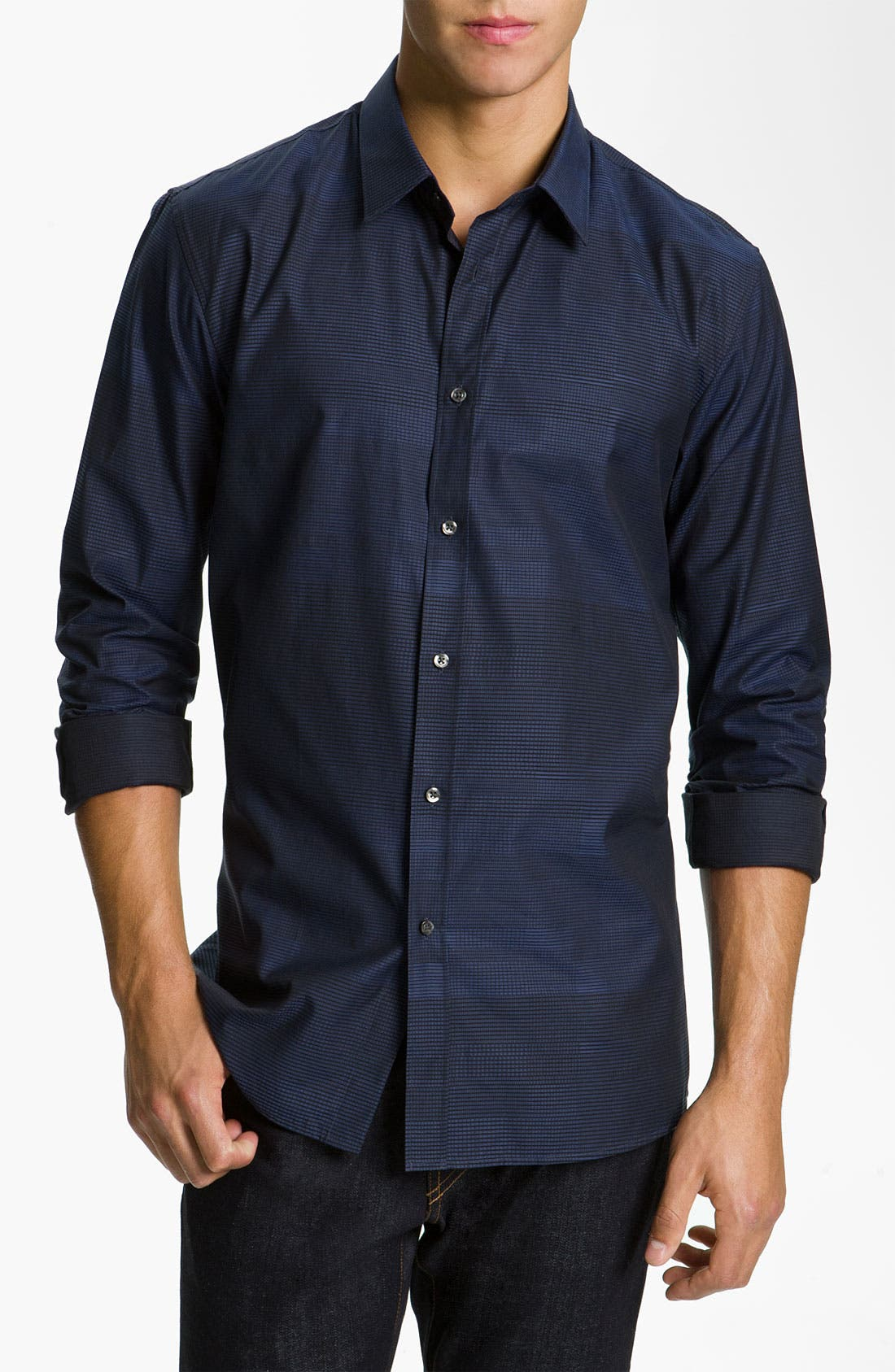 Alternate Image 1 Selected - HUGO 'Elisha' Slim Fit Sport Shirt
