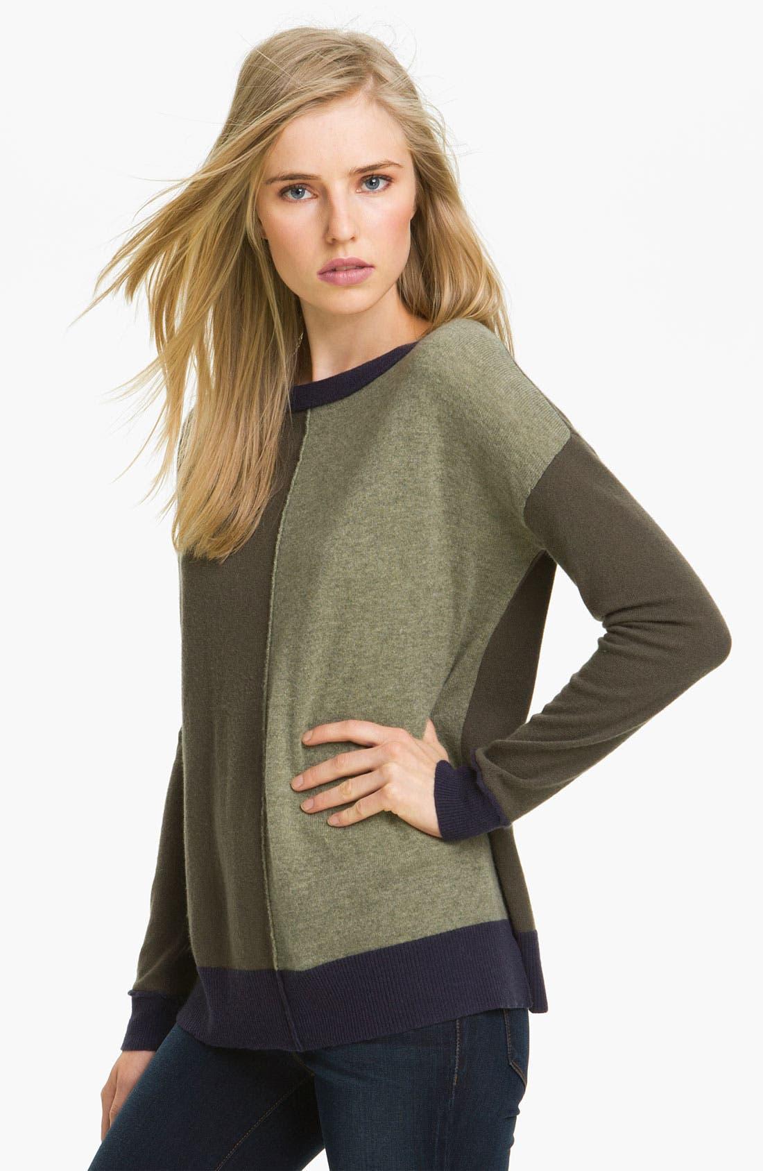 Main Image - autumn cashmere Colorblock Cashmere Knit Tunic