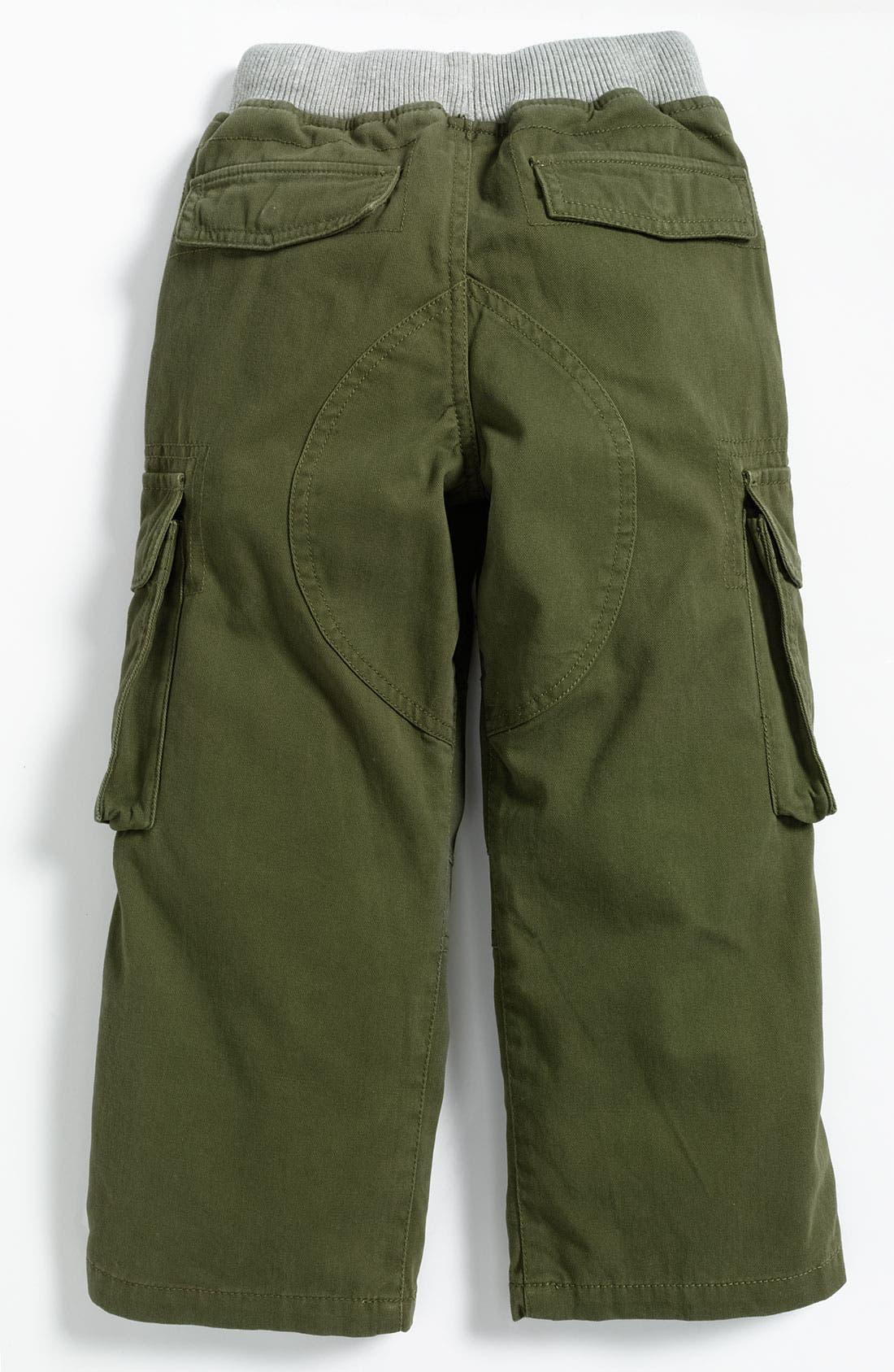 Alternate Image 2  - Mini Boden Ribbed Waist Cargo Pants (Little Boys)