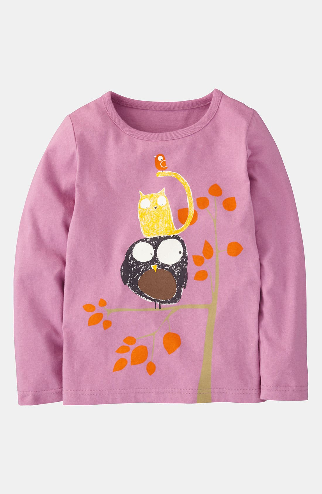 Alternate Image 1 Selected - Mini Boden 'Fine Feathered Friends' Tee (Little Girls & Big Girls)