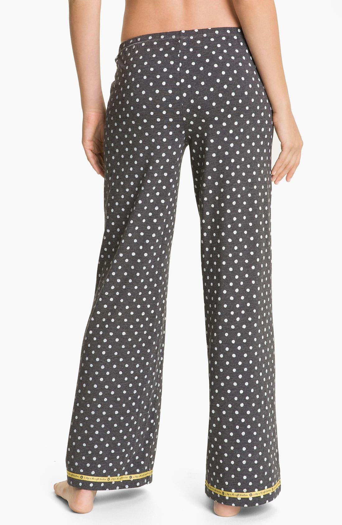Alternate Image 2  - Hue 'Watercolor Dot' Pajama Pants