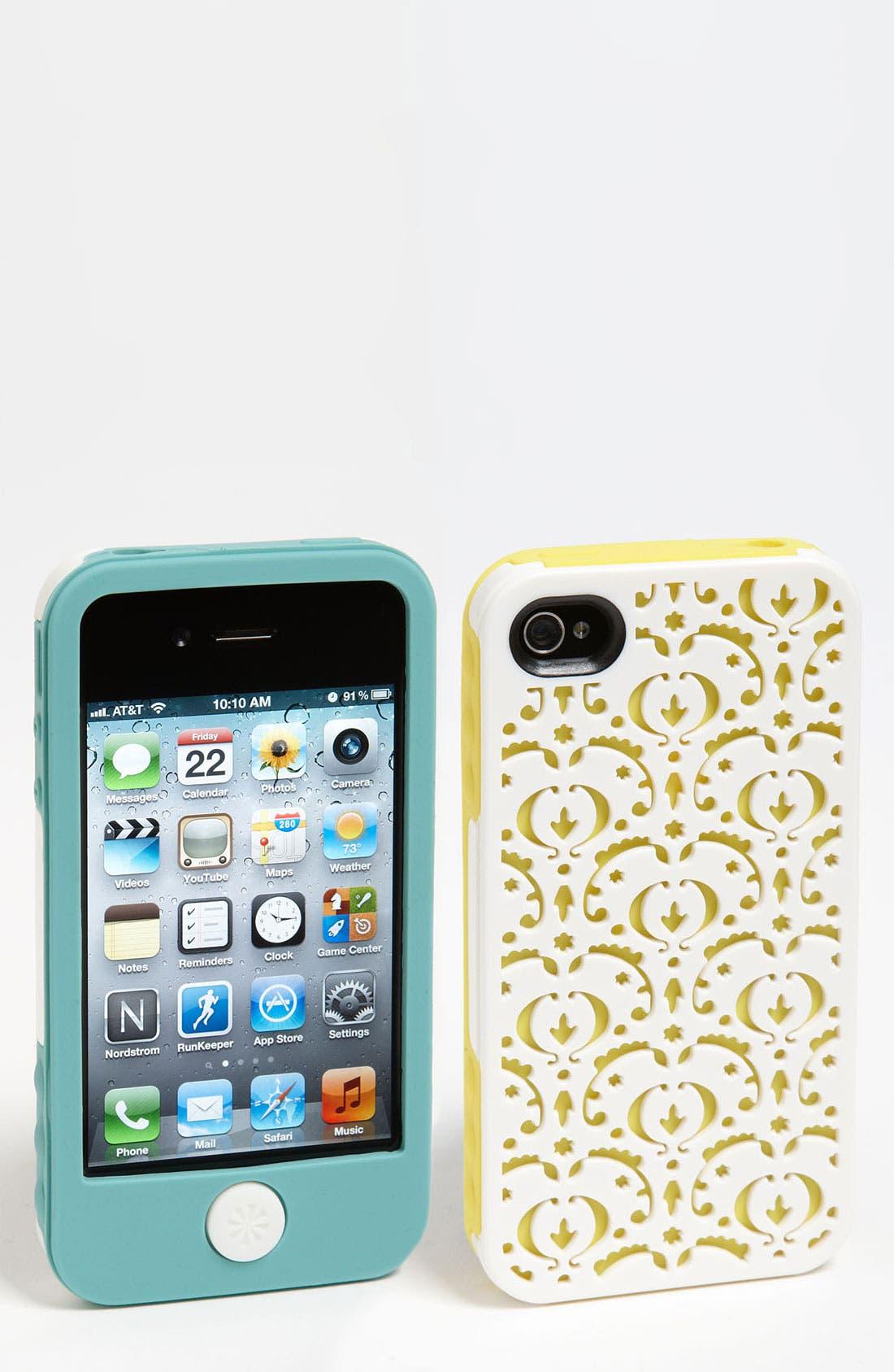 Main Image - Tech Candy 'Bordeaux' iPhone 4 & 4S Silicone Case Set