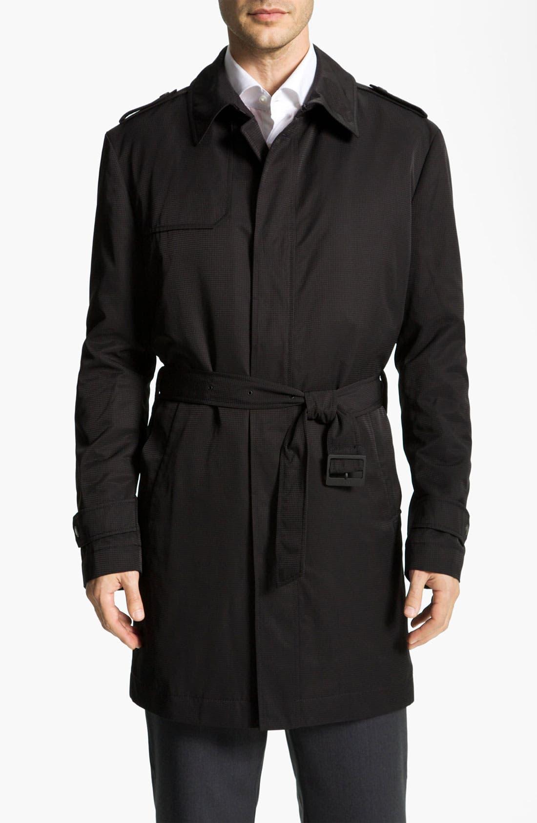 Alternate Image 1 Selected - BOSS Black 'Trait' Raincoat