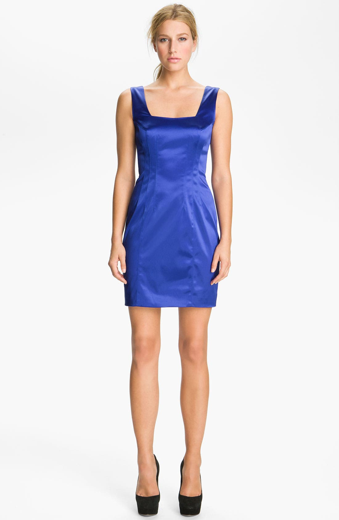 Alternate Image 1 Selected - Jay Godfrey 'Stone' Stretch Satin Minidress (Nordstrom Exclusive)