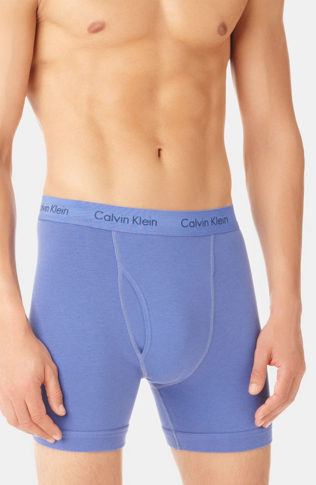 Alternate Image 2  - Calvin Klein 'U2666' Stretch Cotton Boxer Briefs (Assorted 2-Pack)