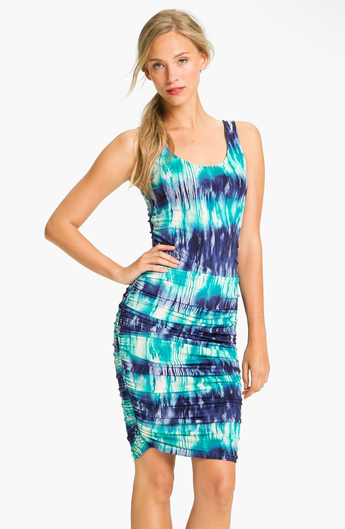 Alternate Image 1 Selected - Abi Ferrin Tie Dye Ruched Jersey Dress