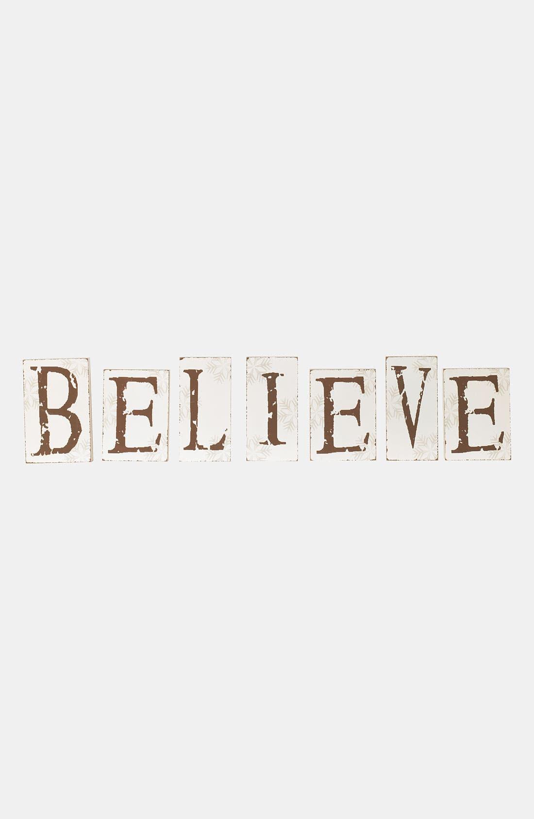 Alternate Image 1 Selected - K & K Interiors 'Believe' Sign