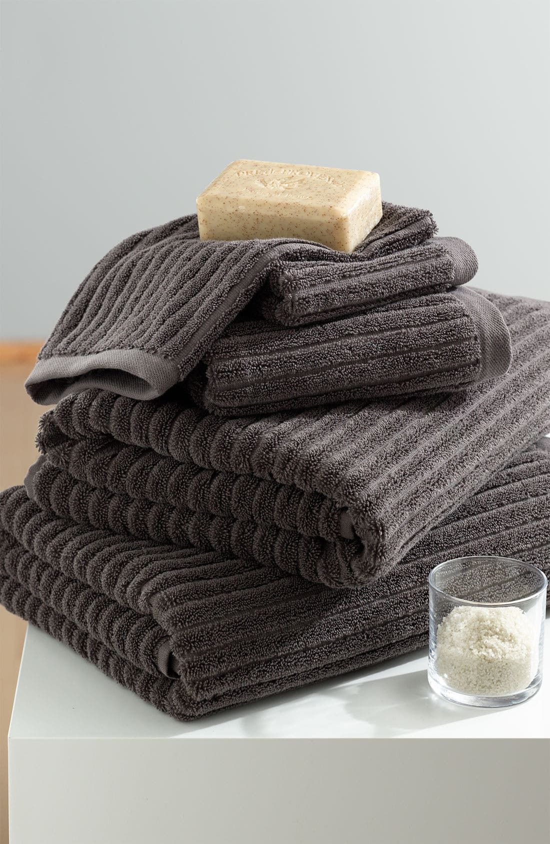 Alternate Image 2  - Nordstrom at Home 'Modern Rib' Hand Towel (2 for $24)