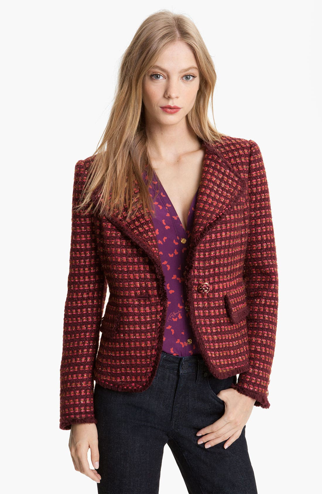 Alternate Image 1 Selected - Tory Burch 'Victory' Tweed Jacket