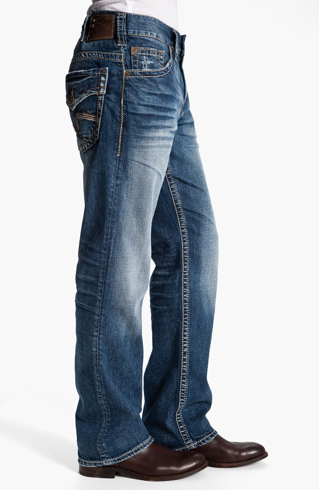 Alternate Image 3  - Silver Jeans Co. 'Gordie' Relaxed Straight Leg Jeans