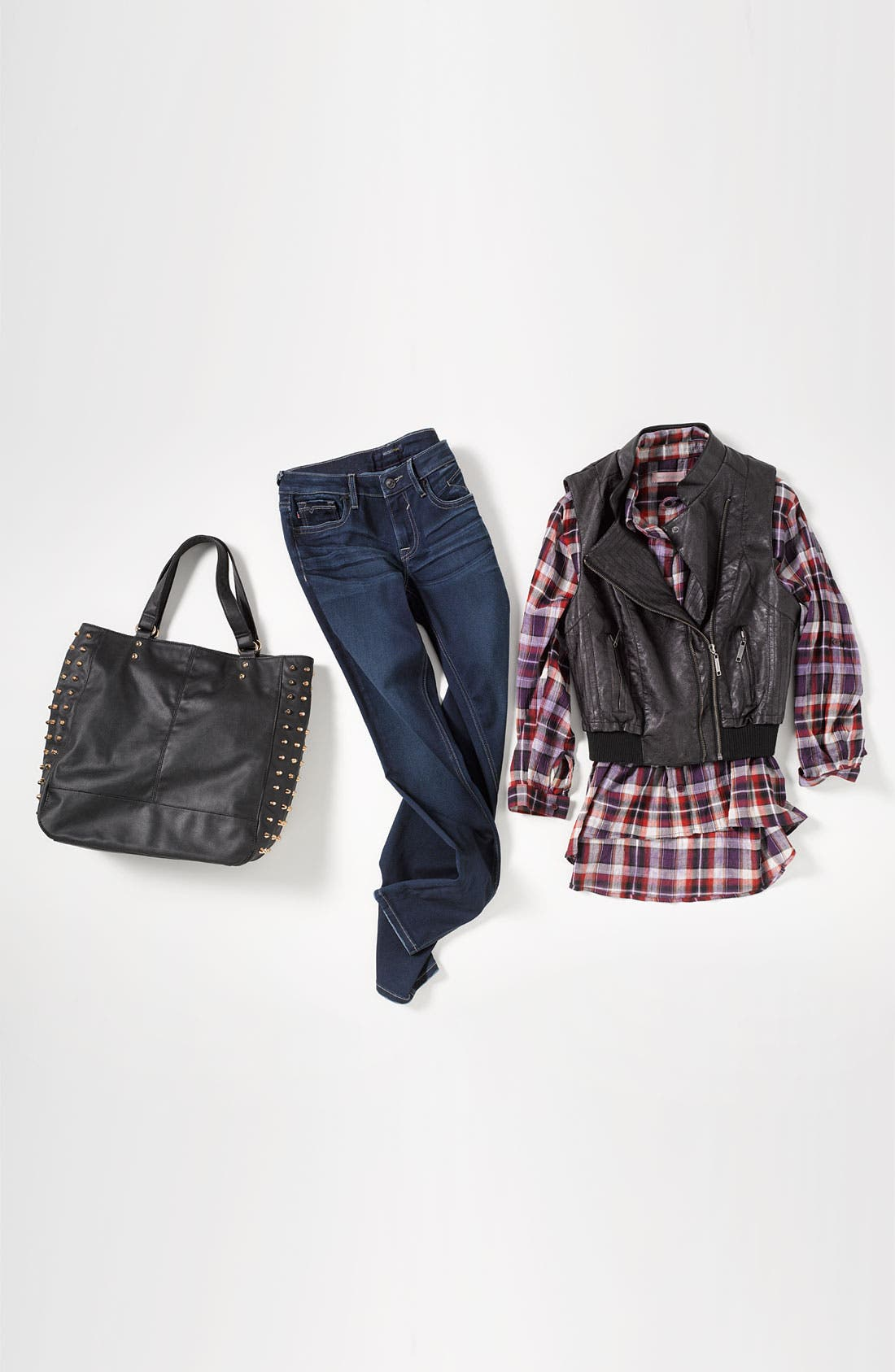 Alternate Image 4  - Jou Jou Faux Leather Biker Vest (Juniors)