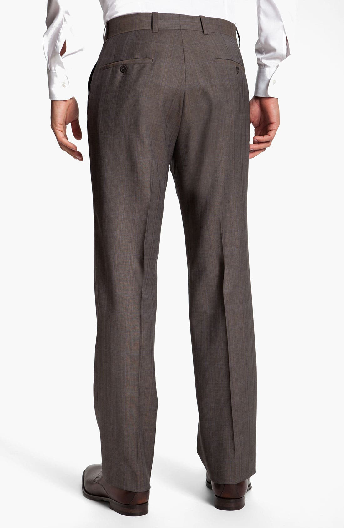 Alternate Image 2  - Linea Naturale 'Bensol' Plaid Wool Trousers