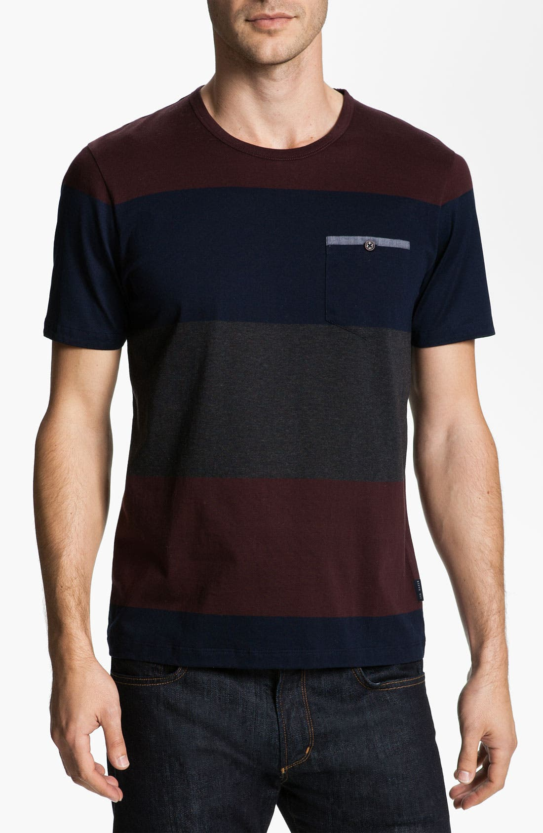 Alternate Image 1 Selected - Ted Baker London 'Bigstripe' Crewneck T-Shirt