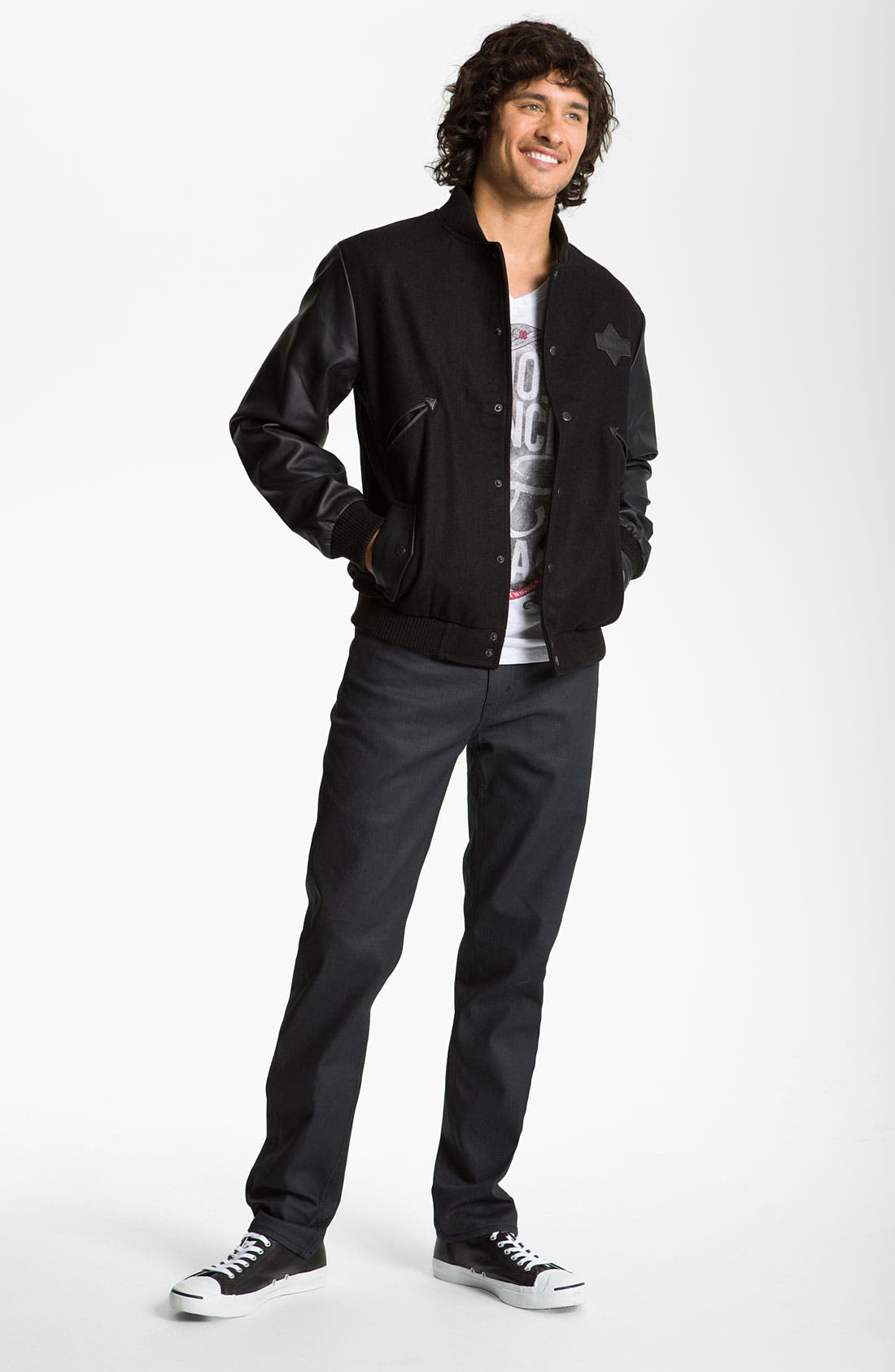 Alternate Image 5  - Levi's® 'Matchstick' Slim Straight Leg Jeans (Mayfield)