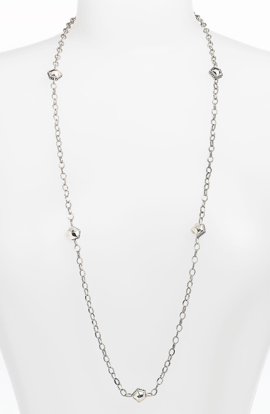 Main Image - LAGOS 'Silver Rocks' Long Station Necklace