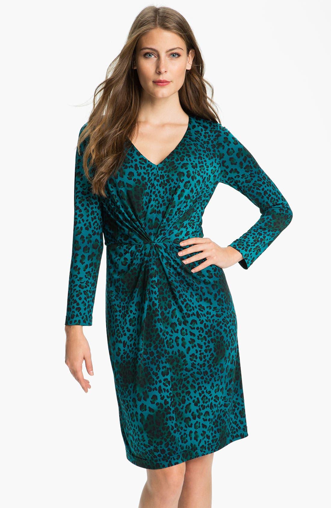 Main Image - Tahari Animal Print Jersey Dress