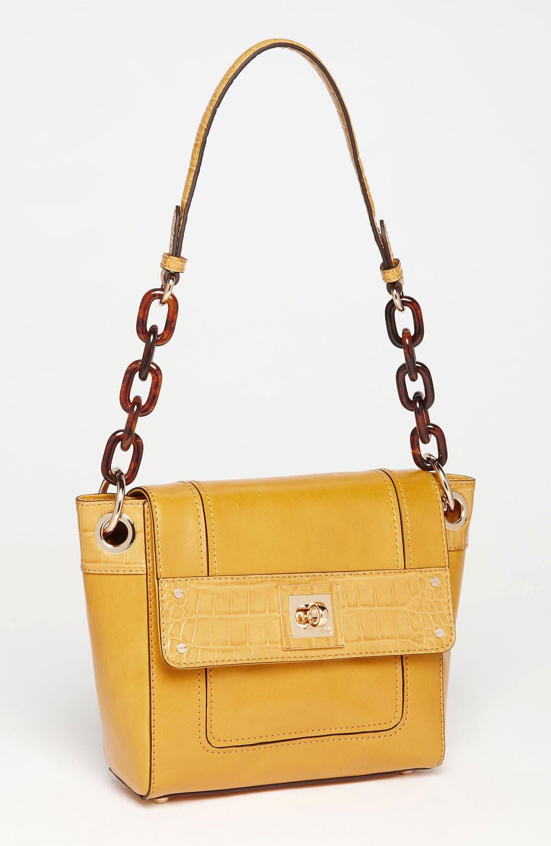 Main Image - Milly 'Amelia' Shoulder Bag with Croc Embossed Trim
