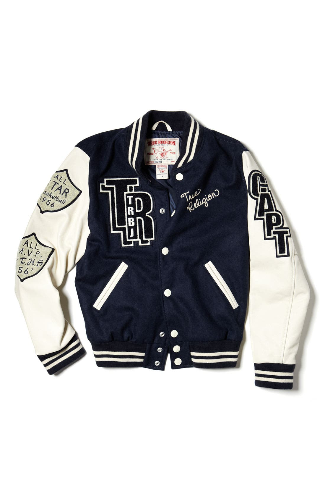 Alternate Image 4  - True Religion Varsity Letterman's Jacket