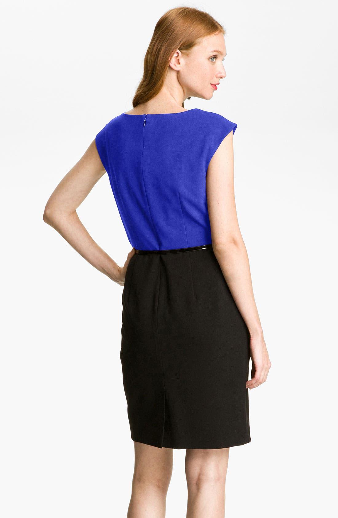 Alternate Image 2  - Calvin Klein Colorblock Belted Sheath Dress