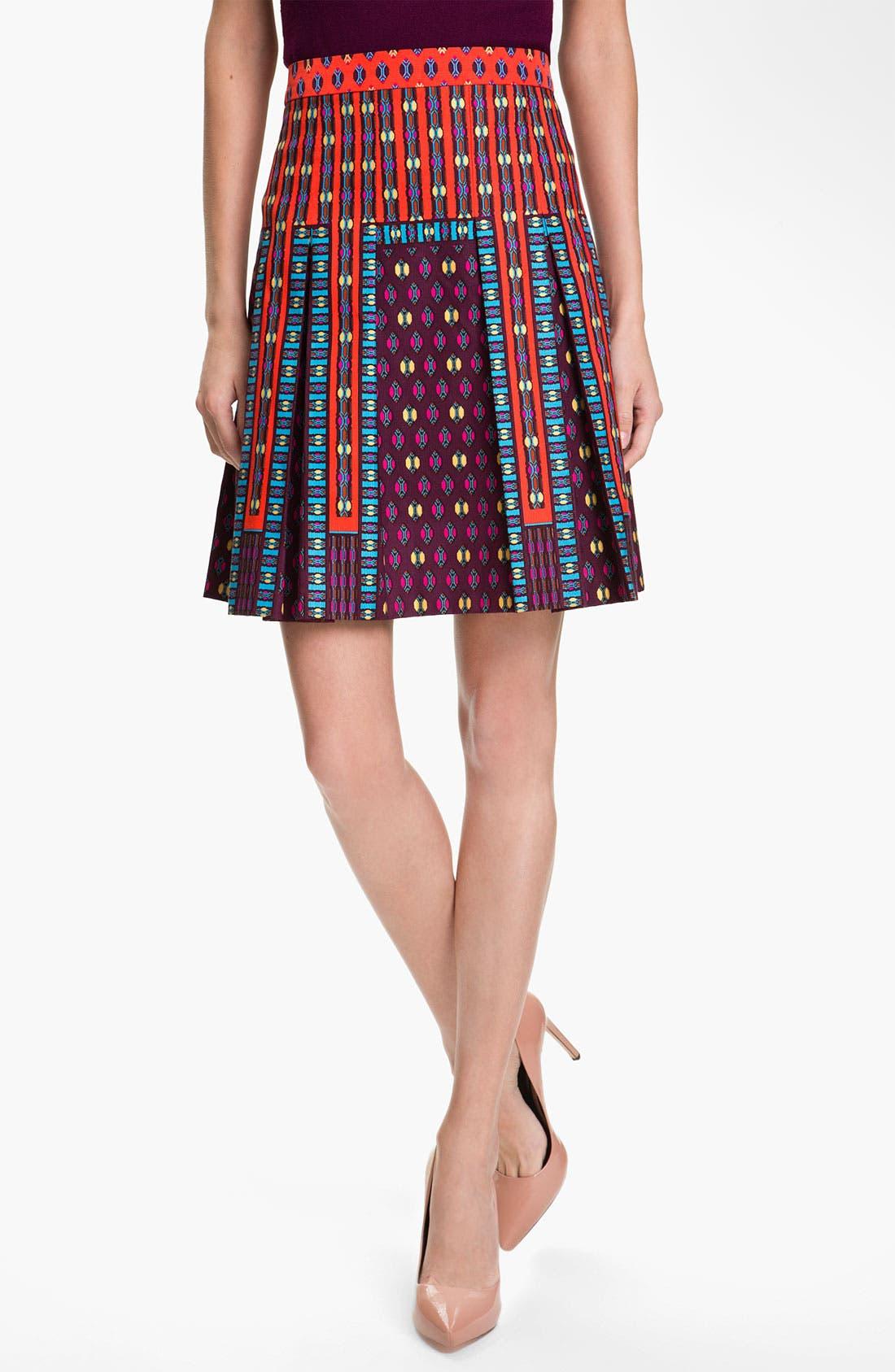 Alternate Image 1 Selected - Nanette Lepore 'Universe' Pleated A-Line Skirt