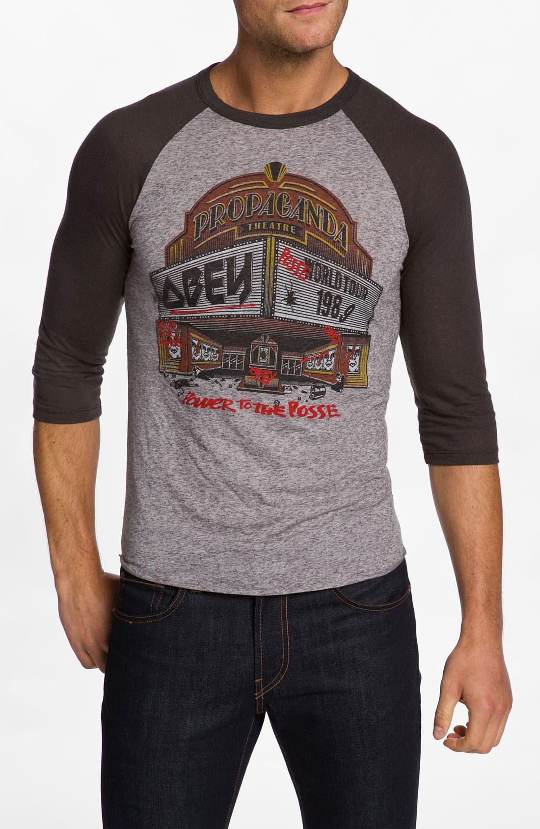 Main Image - Obey 'Marquee' Raglan Baseball T-Shirt