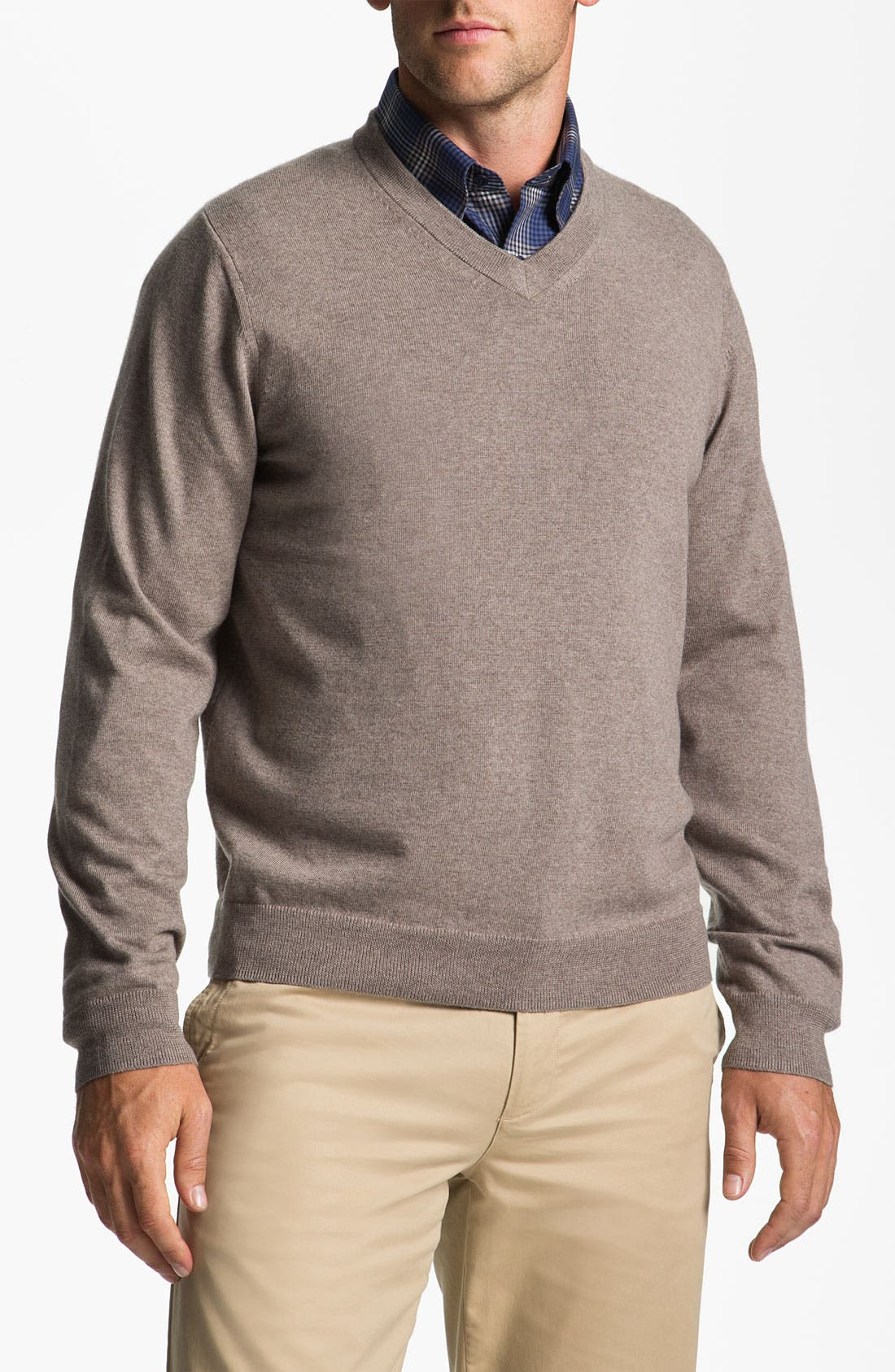 Alternate Image 1 Selected - Nordstrom V-Neck Merino Wool Sweater