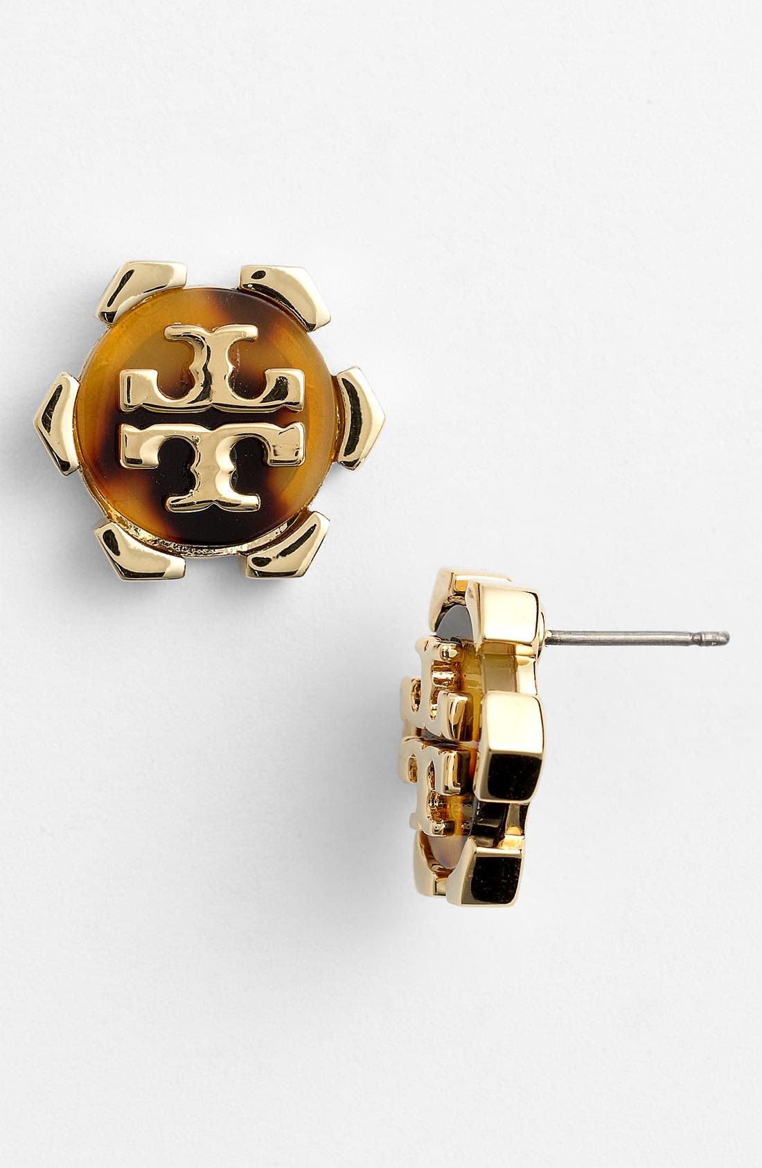 Main Image - Tory Burch 'Walter' Logo Stud Earrings