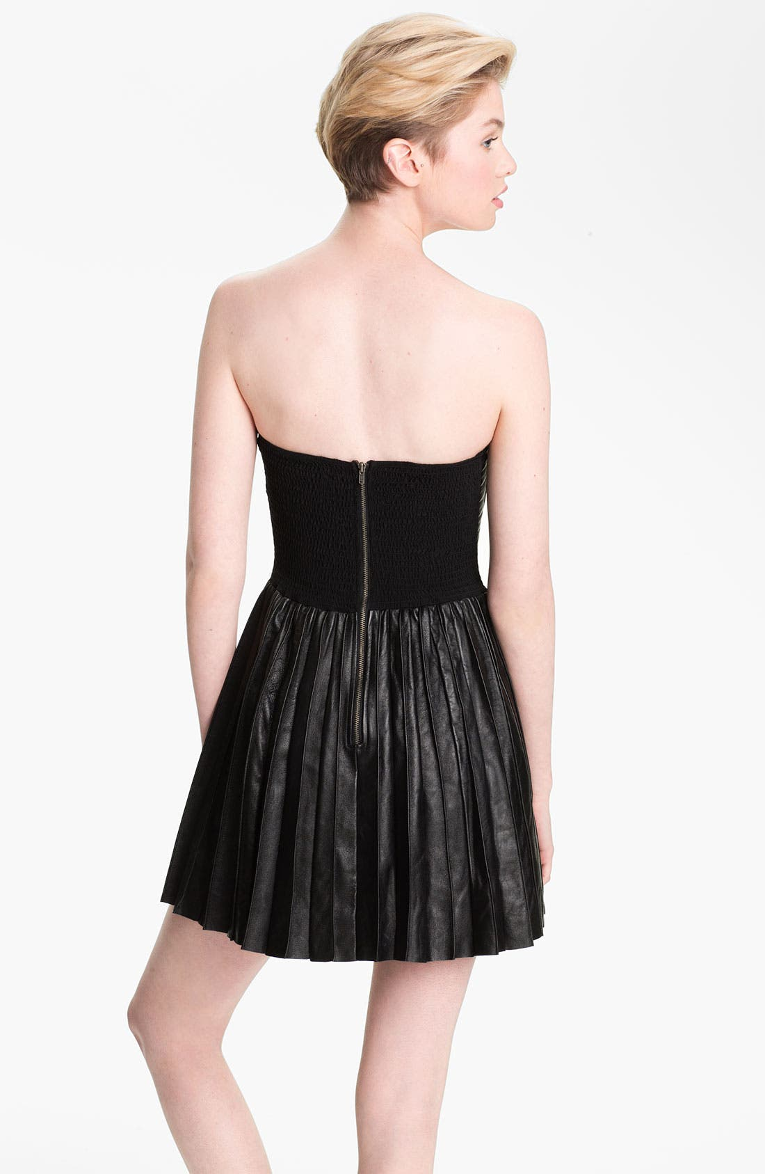 Alternate Image 2  - Parker Quilted Leather Dress