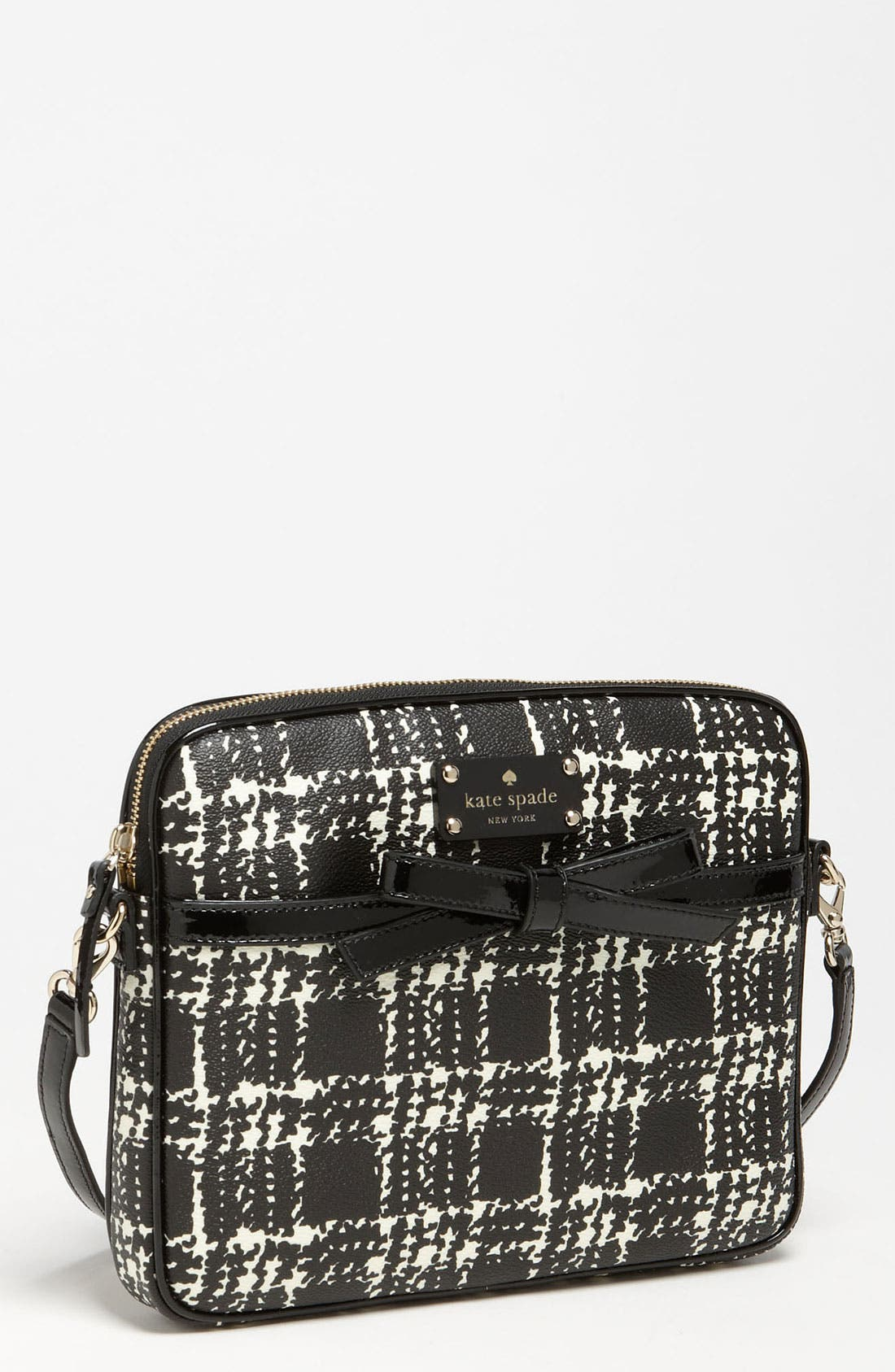 Main Image - kate spade new york 'belleville plaid - bryce' iPad crossbody bag