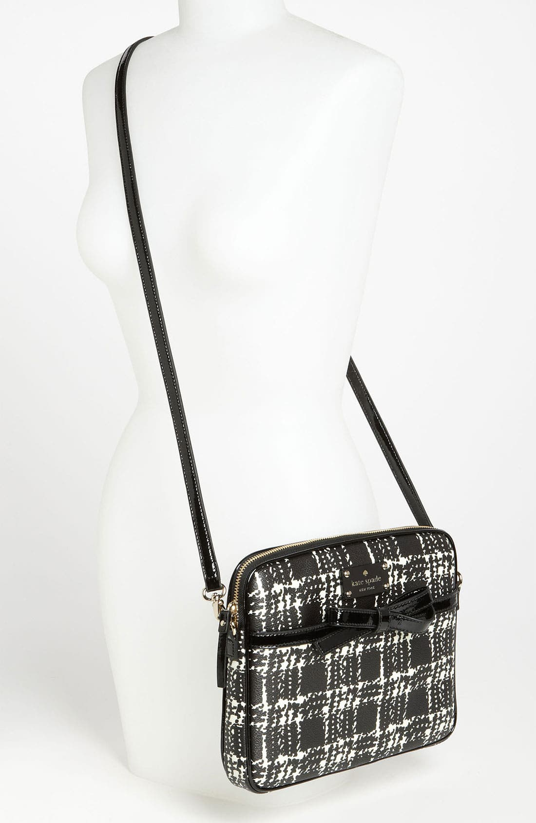 Alternate Image 2  - kate spade new york 'belleville plaid - bryce' iPad crossbody bag