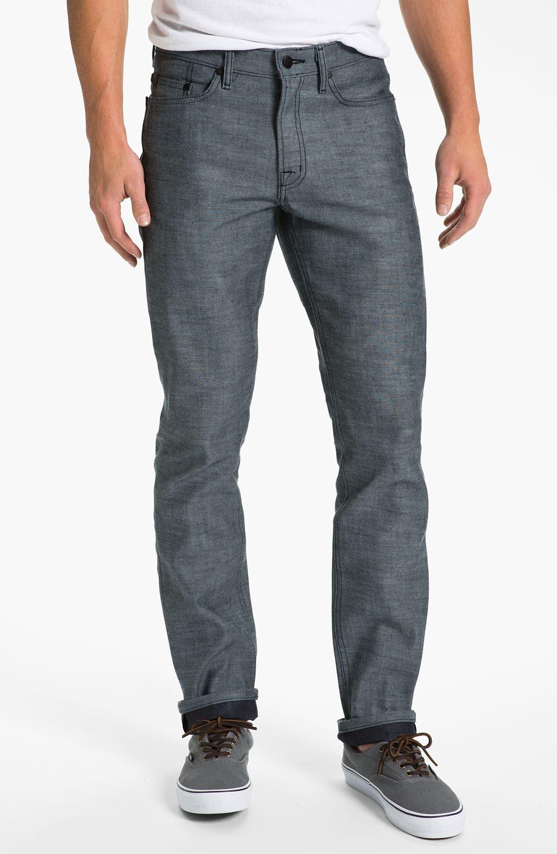 Alternate Image 2  - Comune 'Ricky' Slim Straight Leg Jeans (Speckled Backside of Indigo)