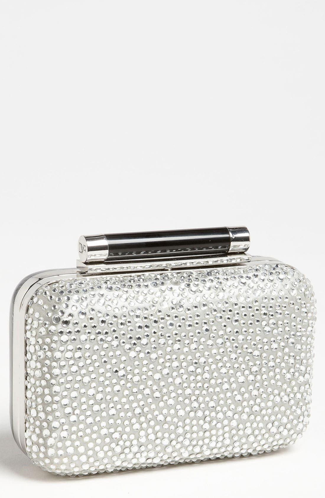 Alternate Image 1 Selected - Diane von Furstenberg 'Tonda - Small' Pavé Crystal & Patent Leather Clutch