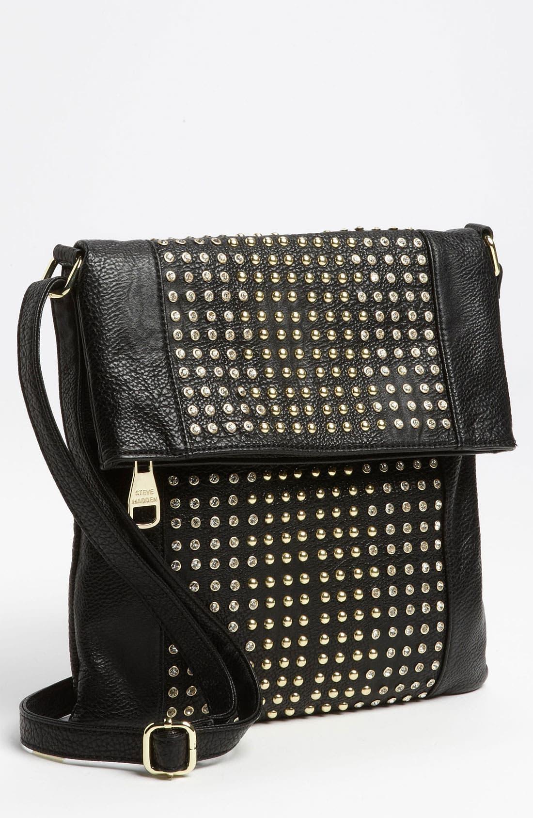 Alternate Image 1 Selected - Steve Madden 'Stud Love' Foldover Crossbody Bag