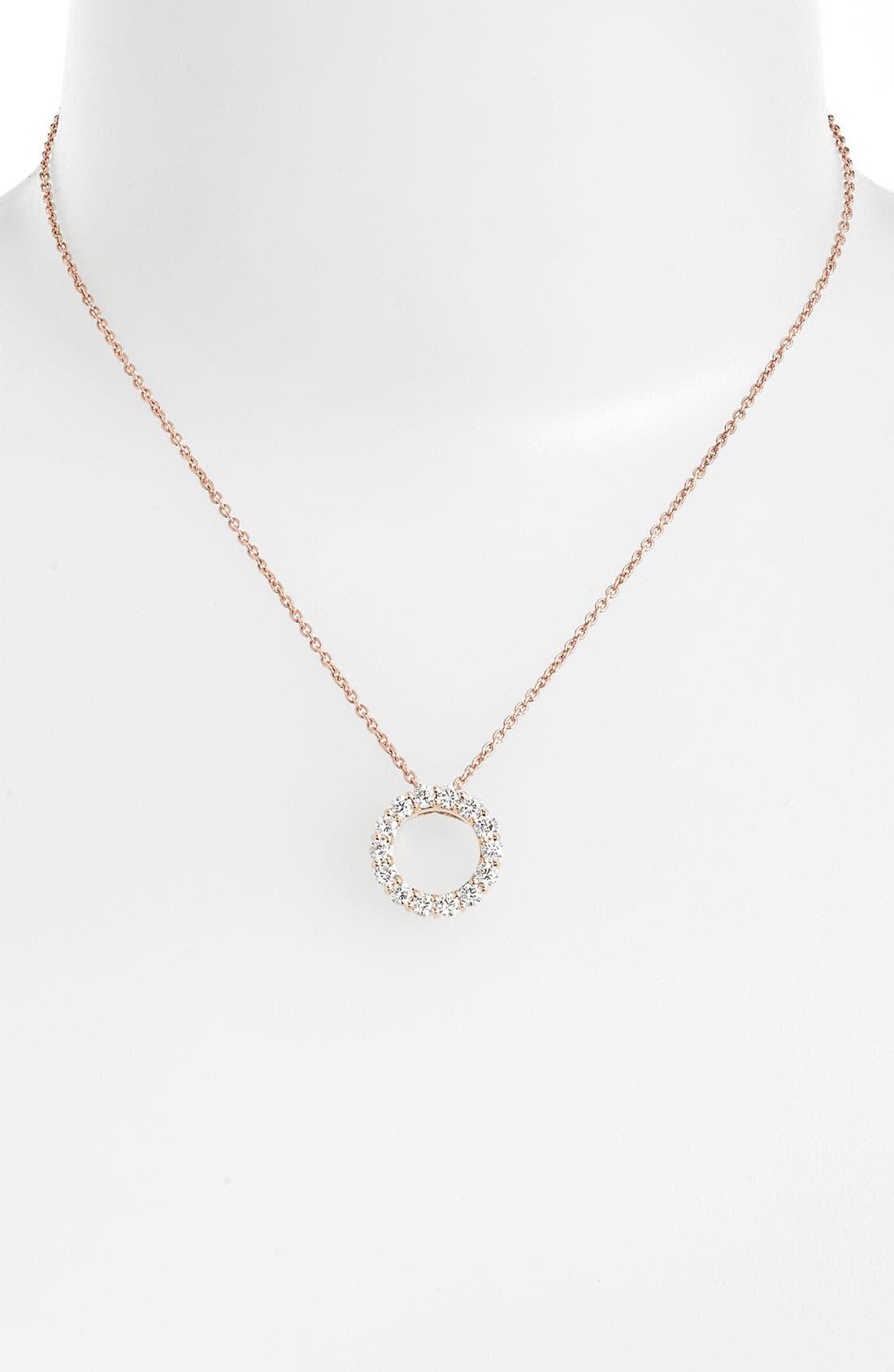 Main Image - Roberto Coin 'Tiny Treasures - Circle of Life' Diamond Necklace