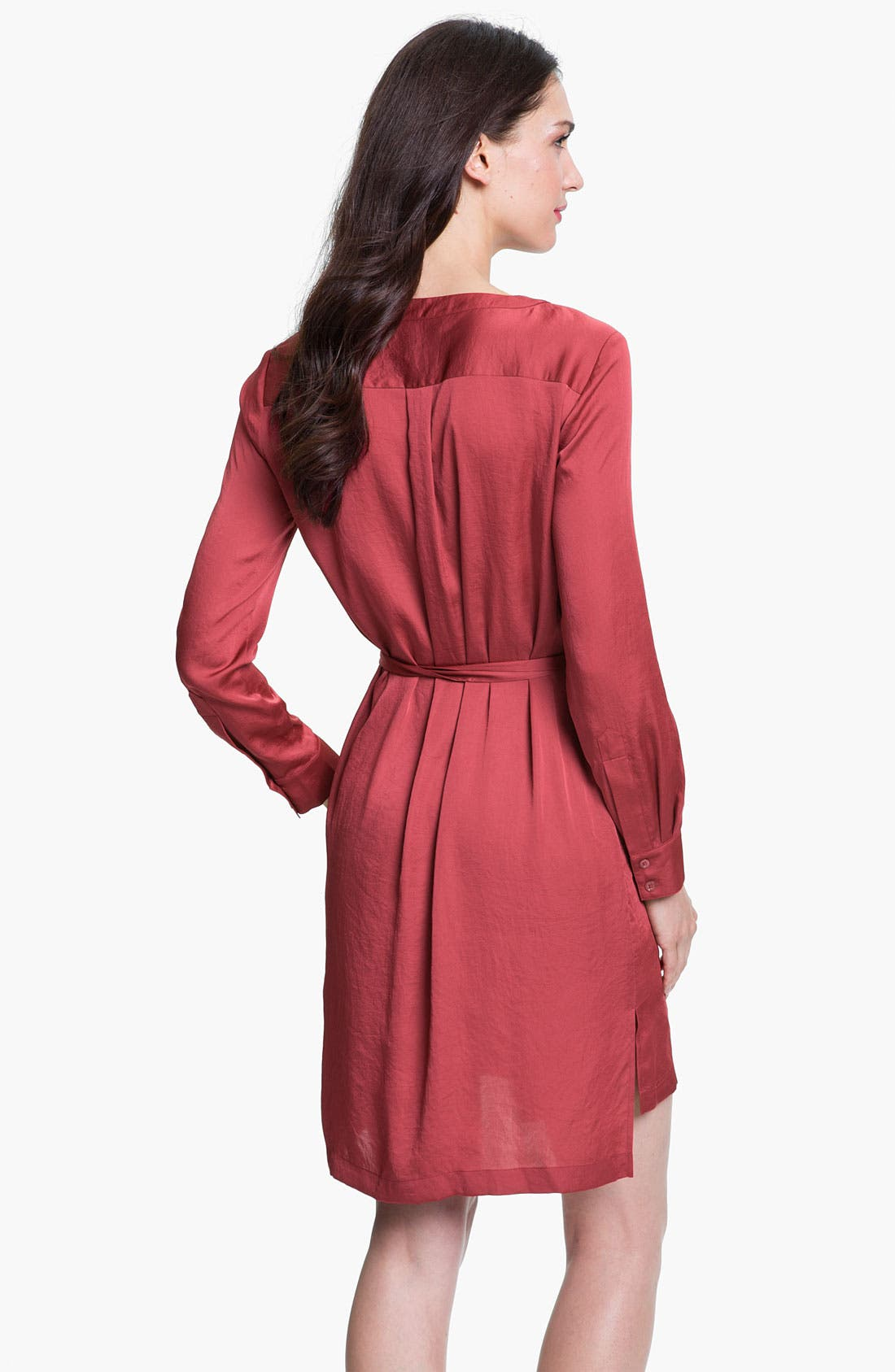 Alternate Image 2  - BCBGMAXAZRIA 'Tarin' Cascade Shirtdress