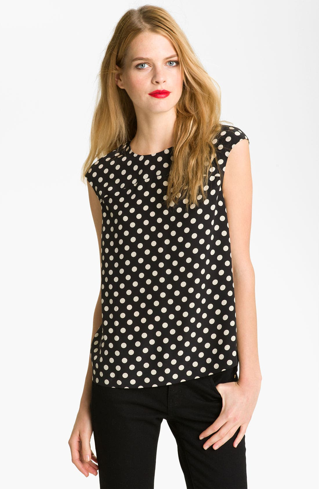 Main Image - kate spade new york 'fran' silk blouse