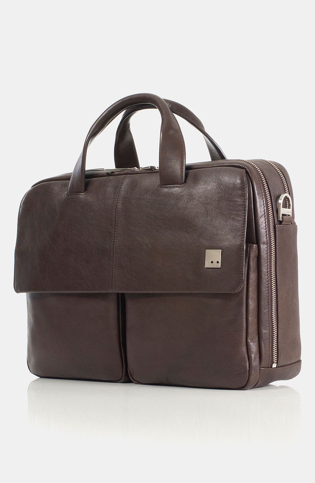 Alternate Image 1 Selected - KNOMO London 'Warwick' Double Compartment Leather Briefcase