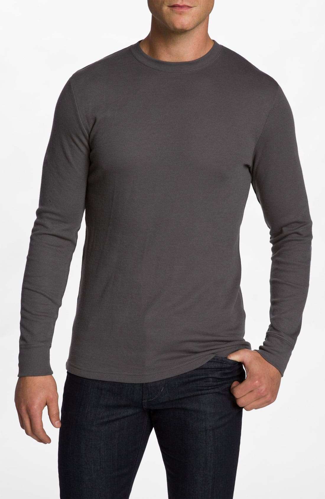 Main Image - Hurley 'Staple' Crewneck Thermal Shirt