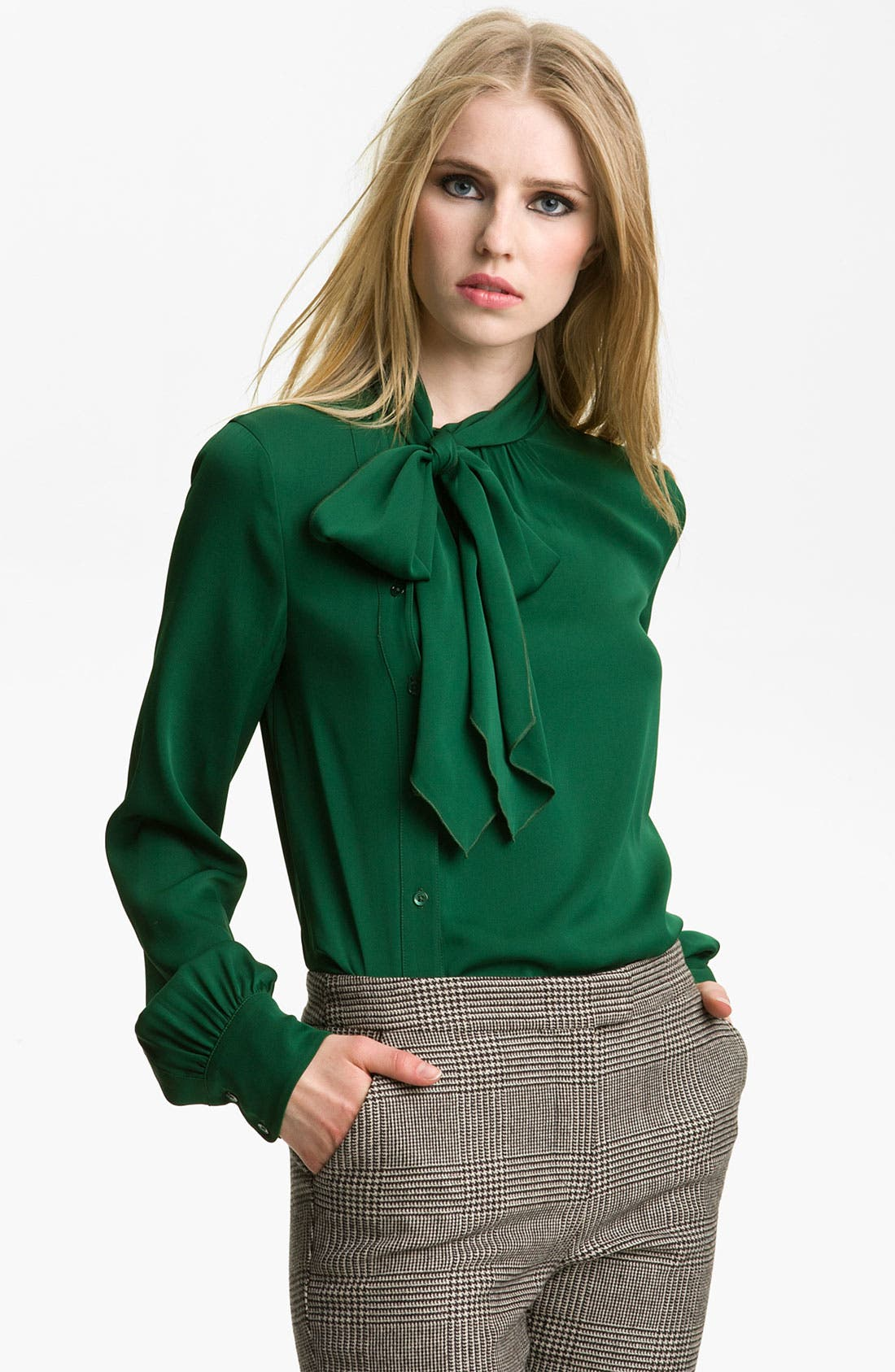Alternate Image 1 Selected - Rachel Zoe 'Maryna' Side Placket Blouse