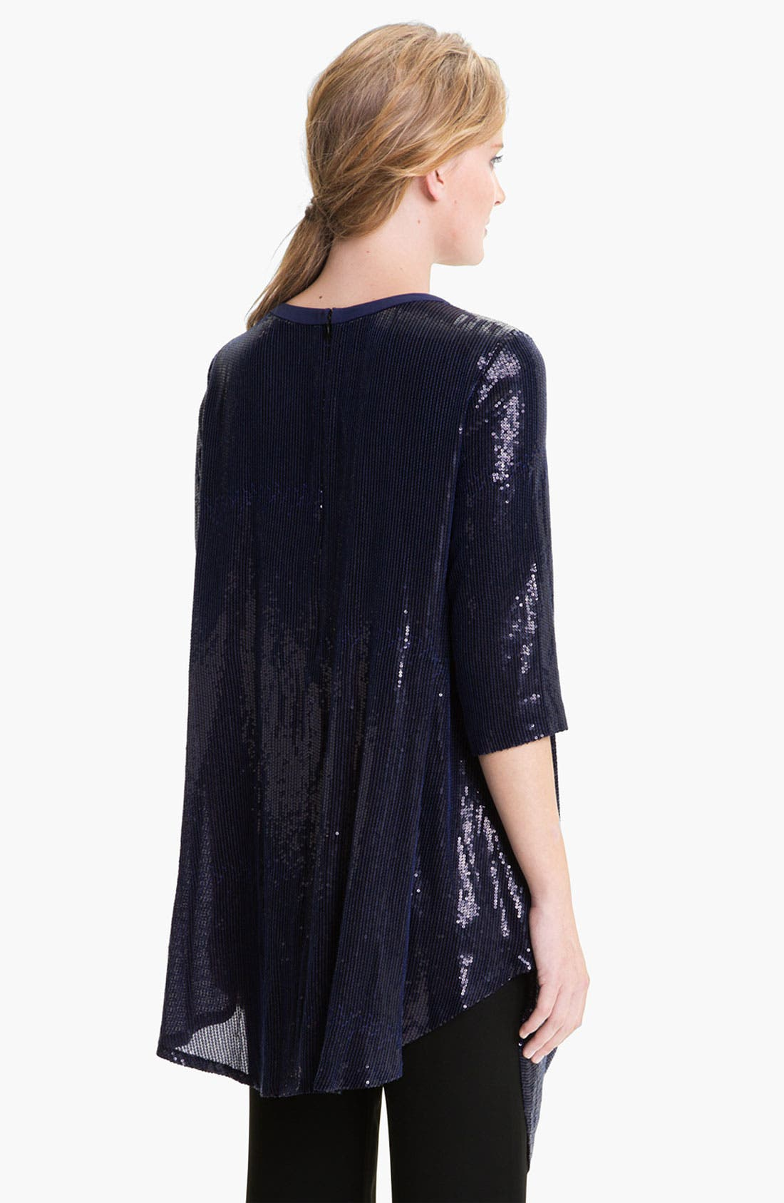 Alternate Image 2  - Lafayette 148 New York Sequin Silk Georgette Tunic