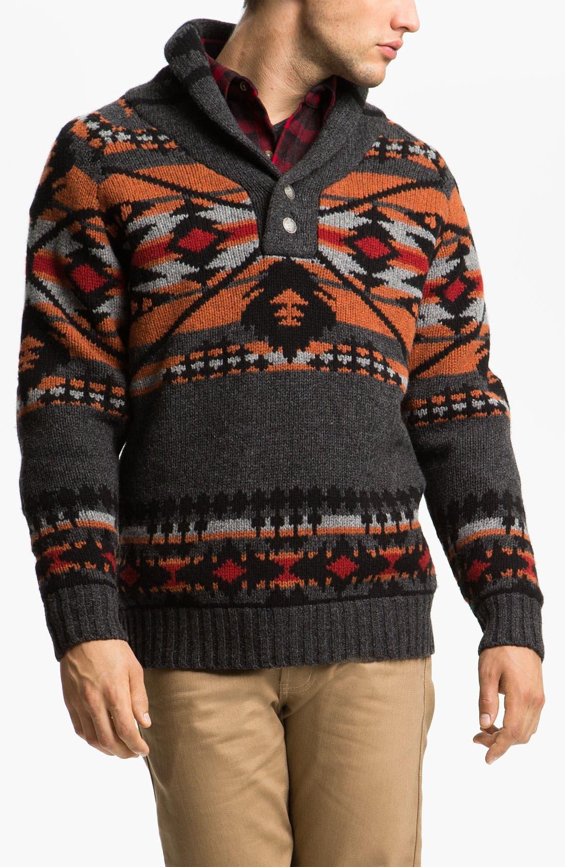 Main Image - Pendleton Shawl Collar Sweater