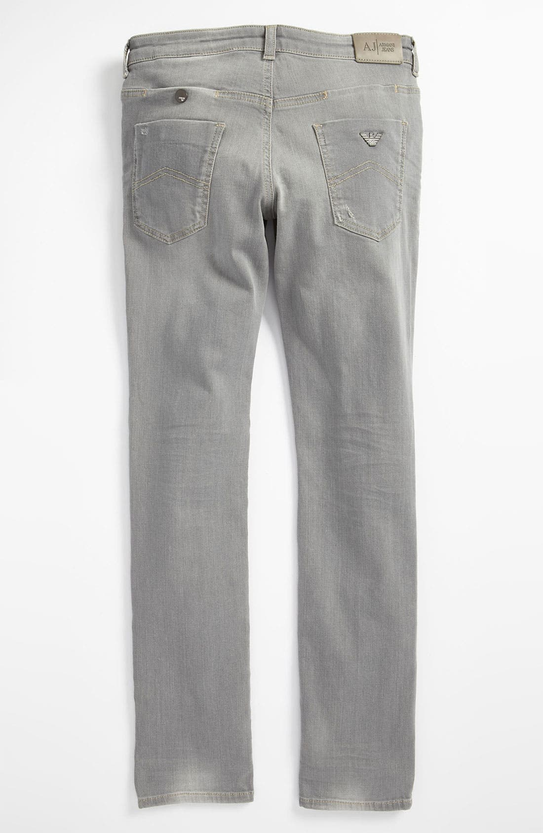 Alternate Image 1 Selected - Armani Junior Slim Jeans (Big Boys)