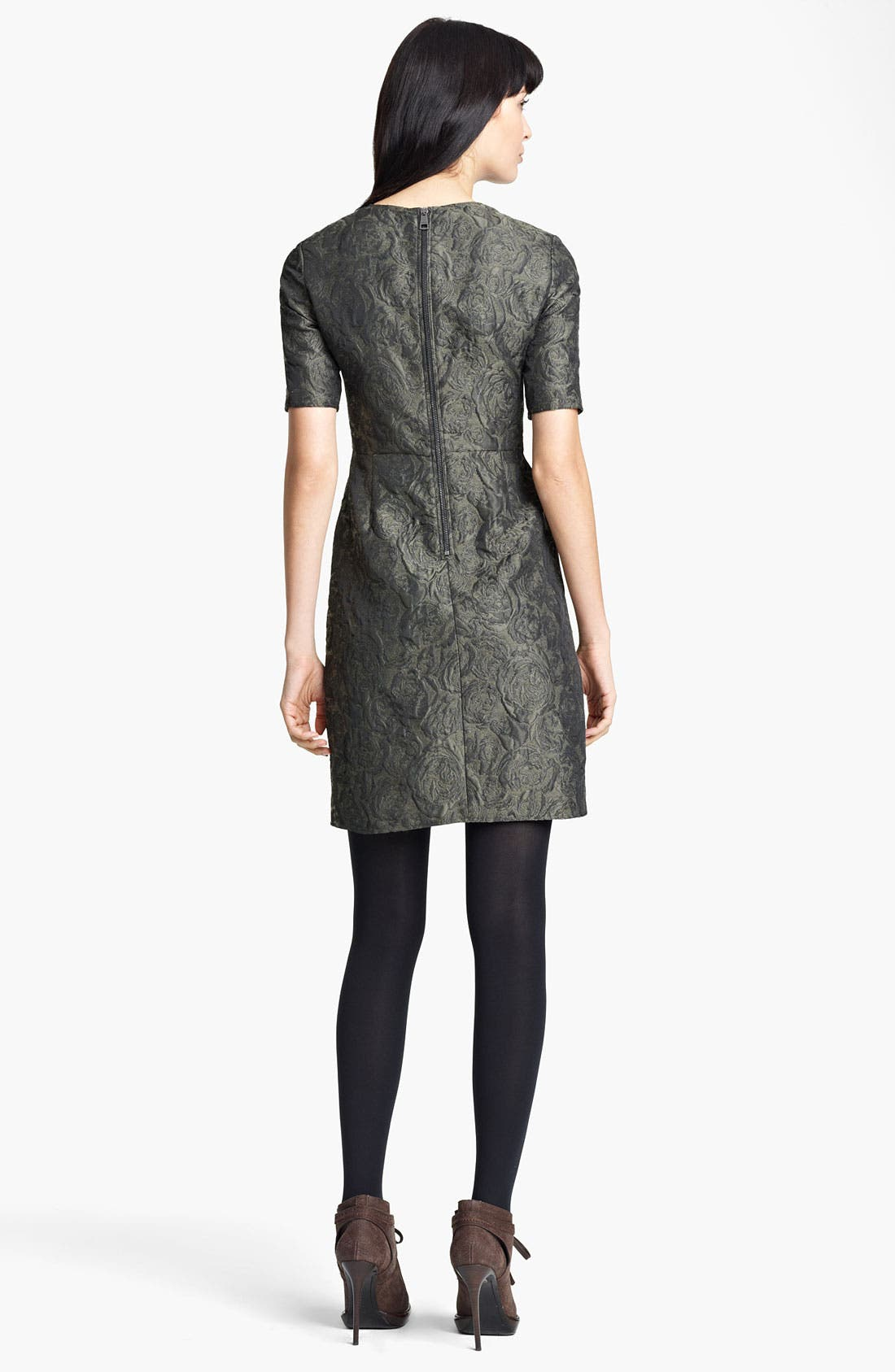 Alternate Image 2  - Burberry London Floral Jacquard Dress